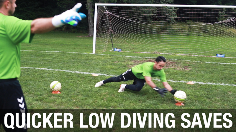 Soccer Goalie Low Diving Drill