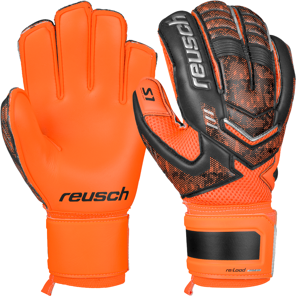 Reusch Re Load Prime S1 Goalkeeper Glove in Bright Orange and Black ... e74ca7ddbaa4