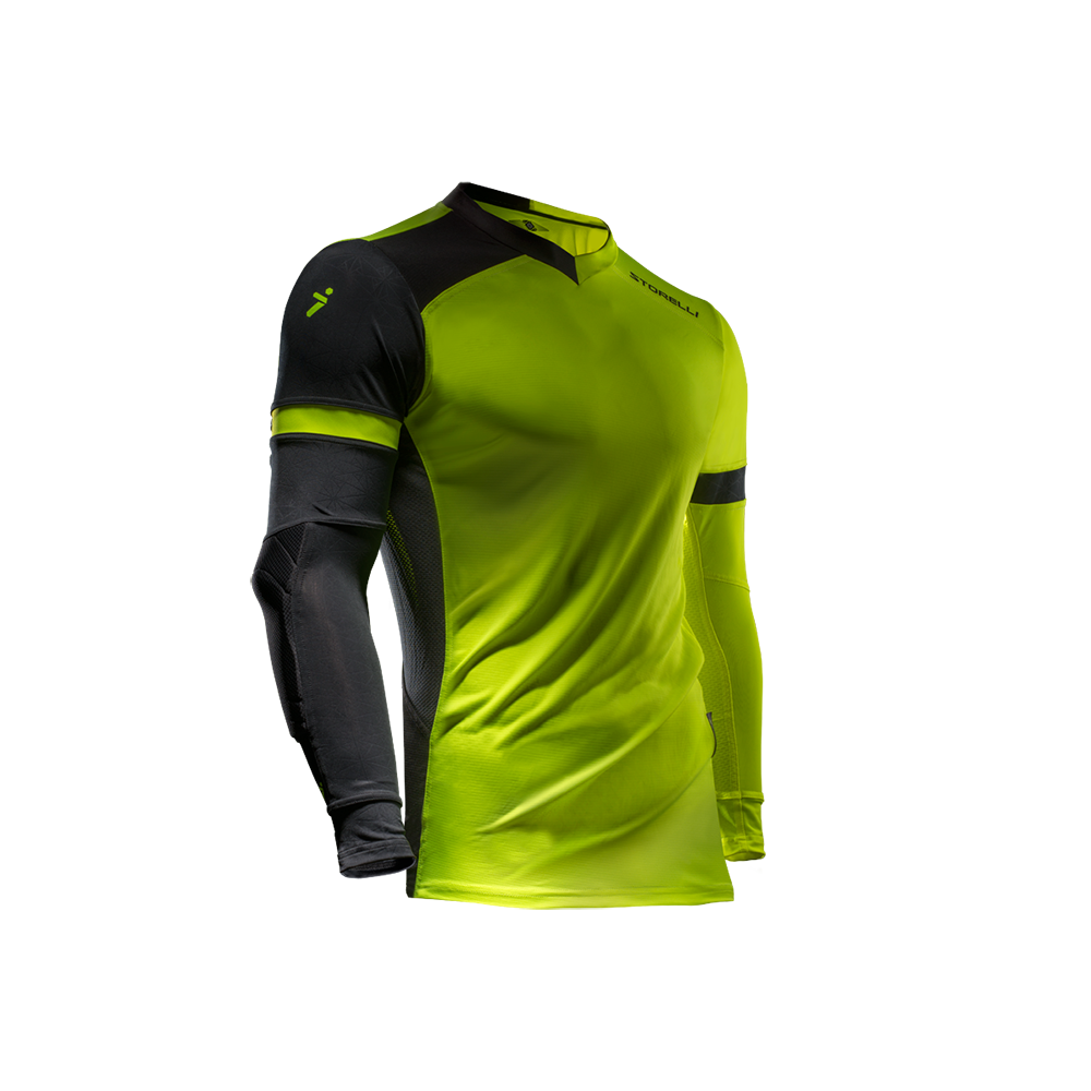 Storelli Exoshield Gladiator Goalkeeper Jersey Strike Yellow
