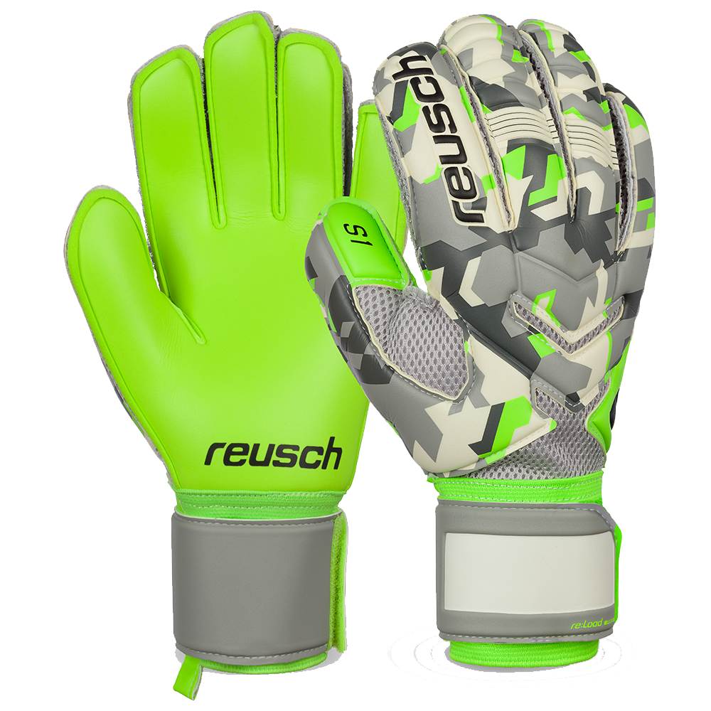 Improved grip and durability in these Reusch soccer goalie gloves ... 95f0536c6bd3
