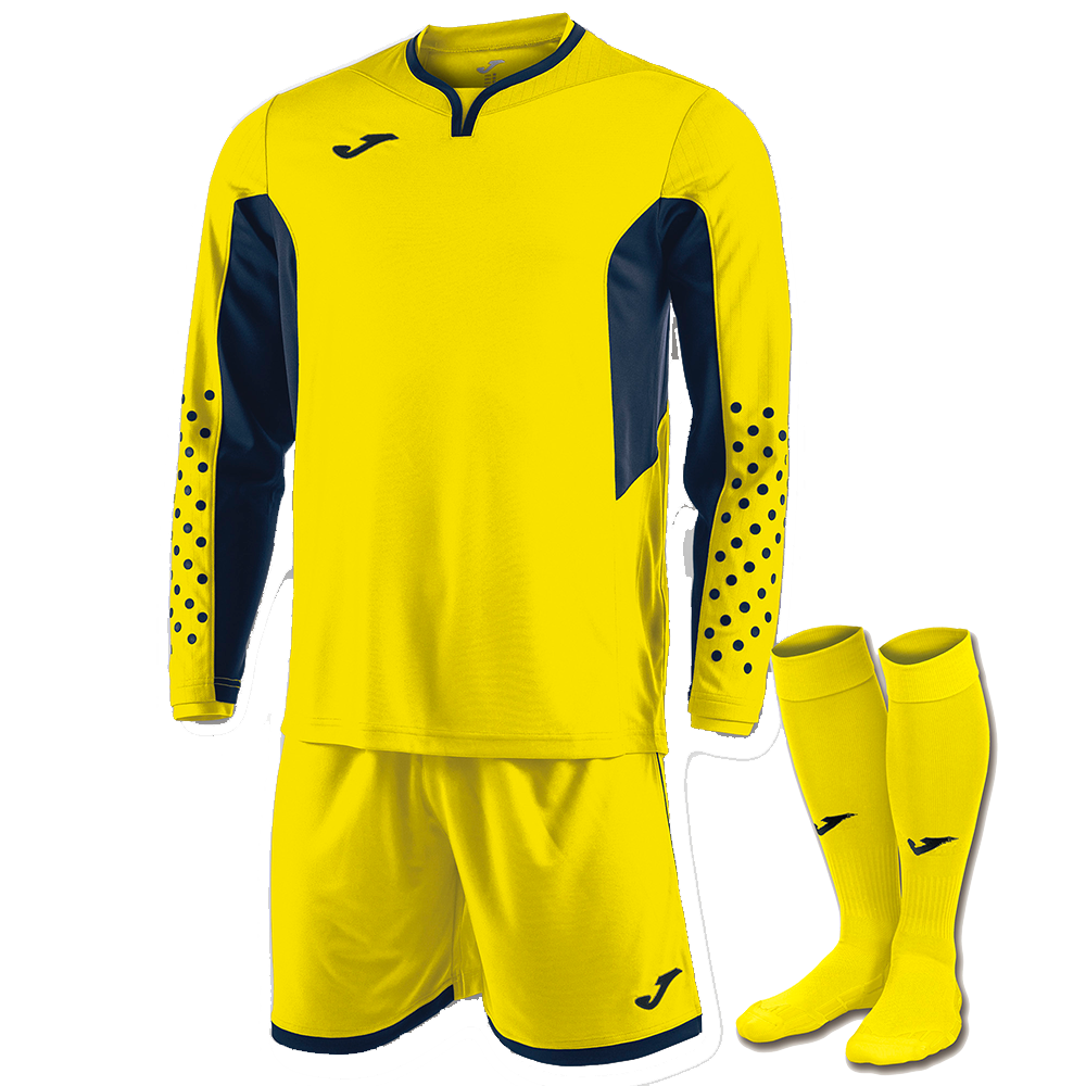 Flu Yellow Joma Zamora III Goalkeeper Kit