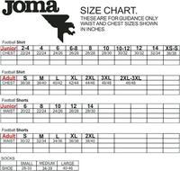 Uhlsport glove size guide