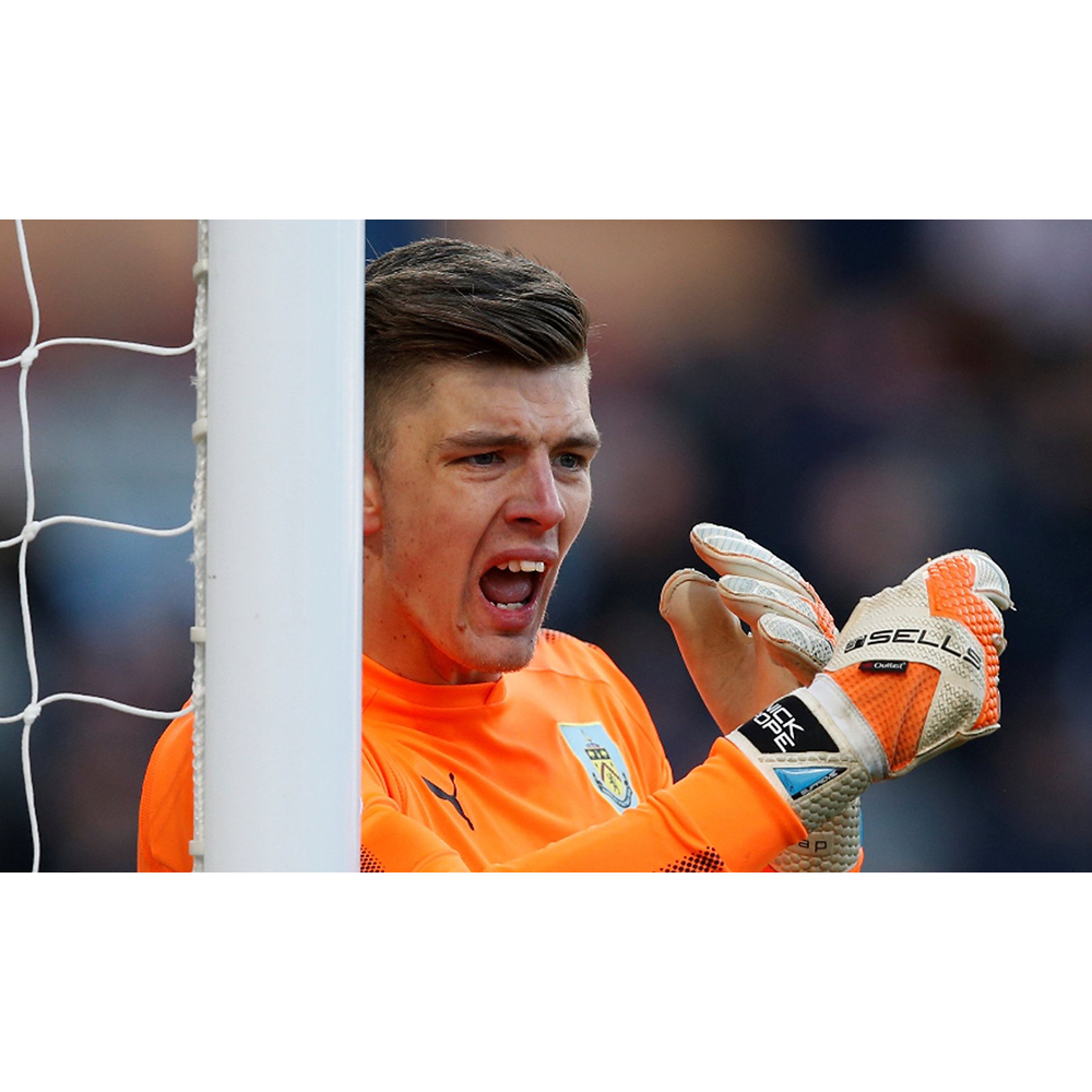 Nick Pope of Burnley FC in Sells Gloves