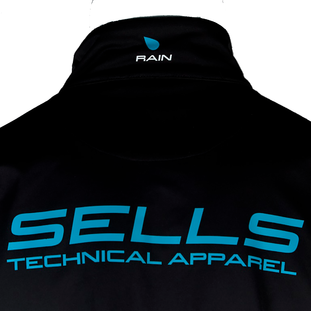 Sells Elite Aqua Rain Jacket Logo