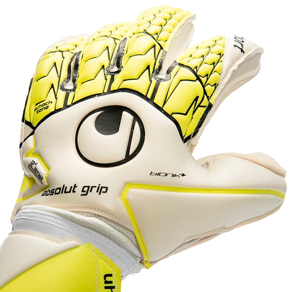 Backhand on the Uhlsport Absolutgrip Bionik+