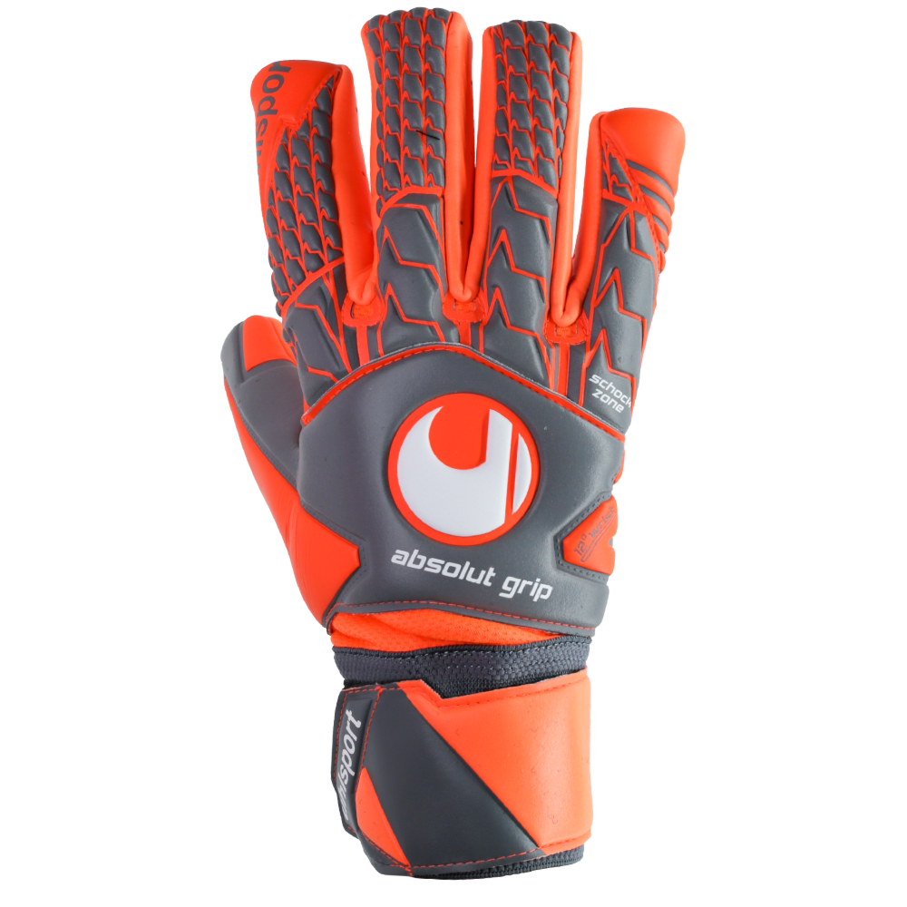 Backhand of the Uhlsport Aerored Absolutgrip HN