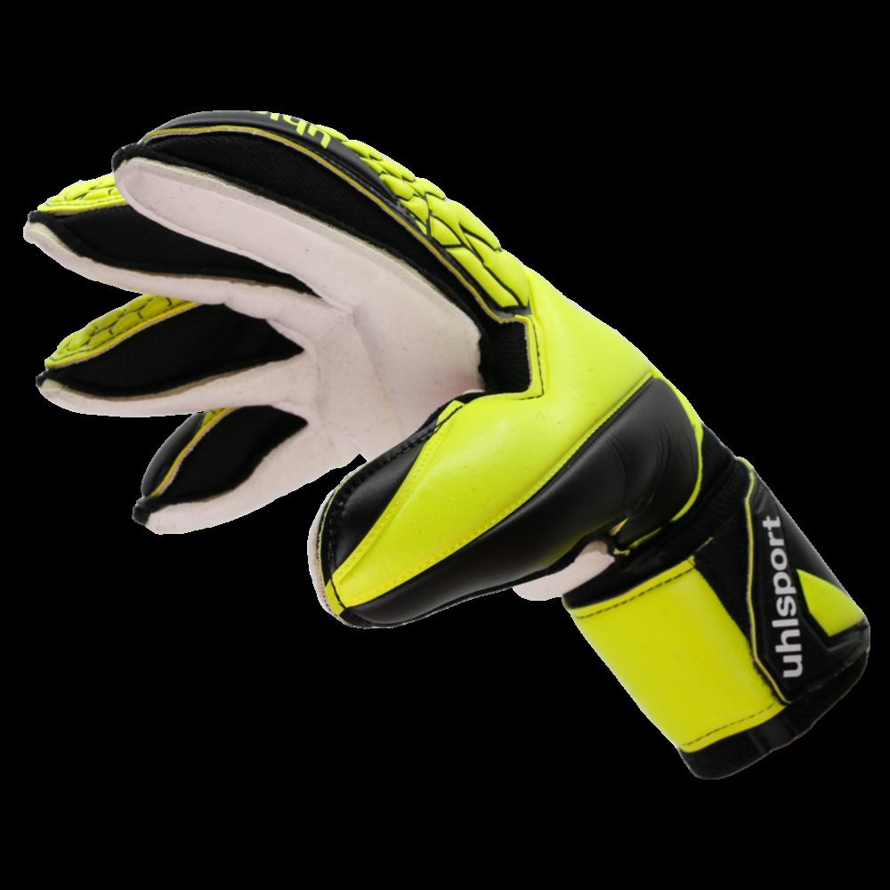 Uhlsport goalkeeper gloves with finger protection