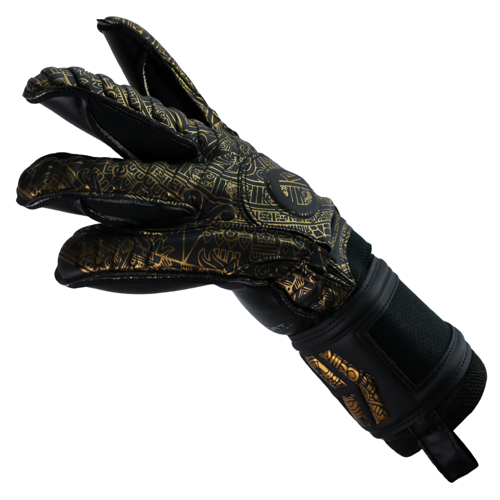 Goalkeeper gloves with finger support