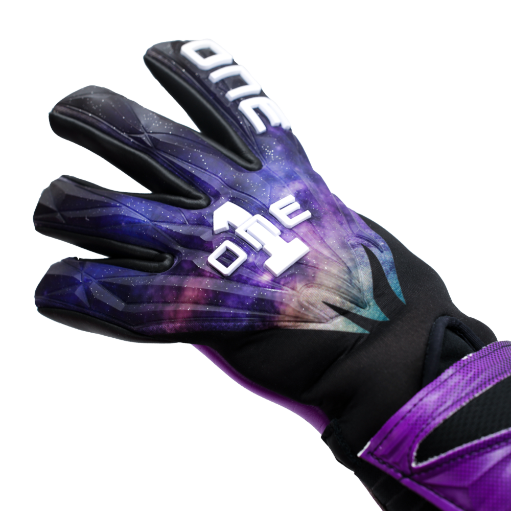 GEO-GLV The One Glove Nebula Goalkeeper Glove Top Logo Galaxy