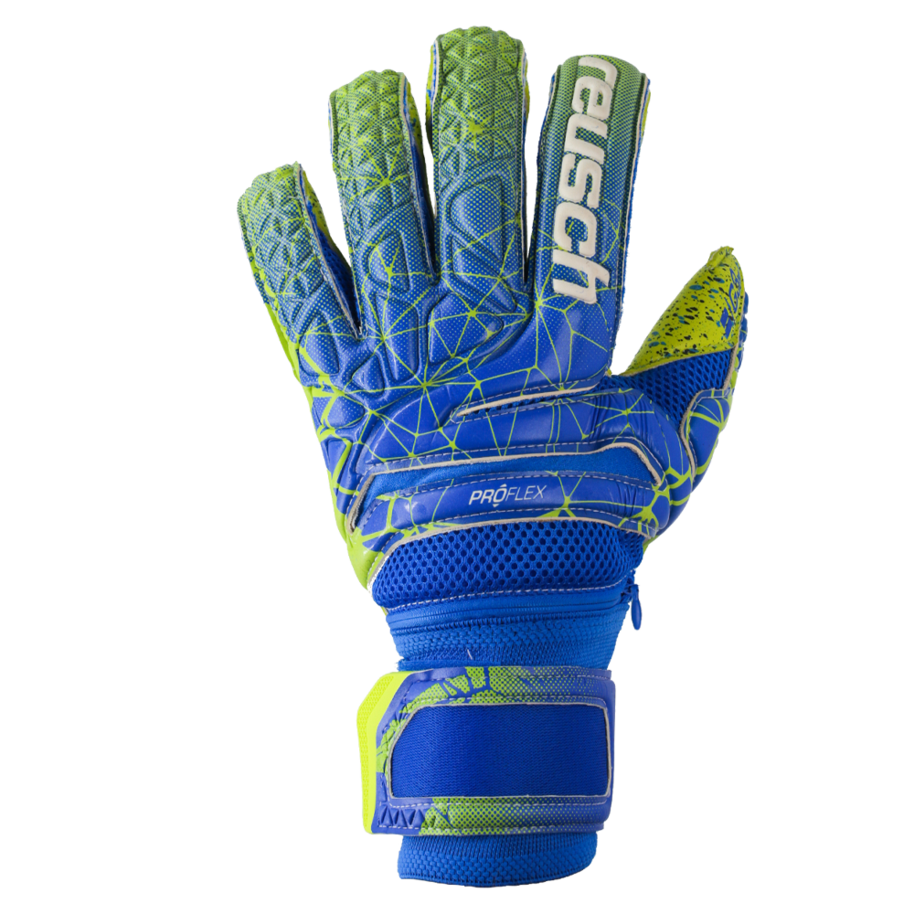 Blue goalkeeper gloves