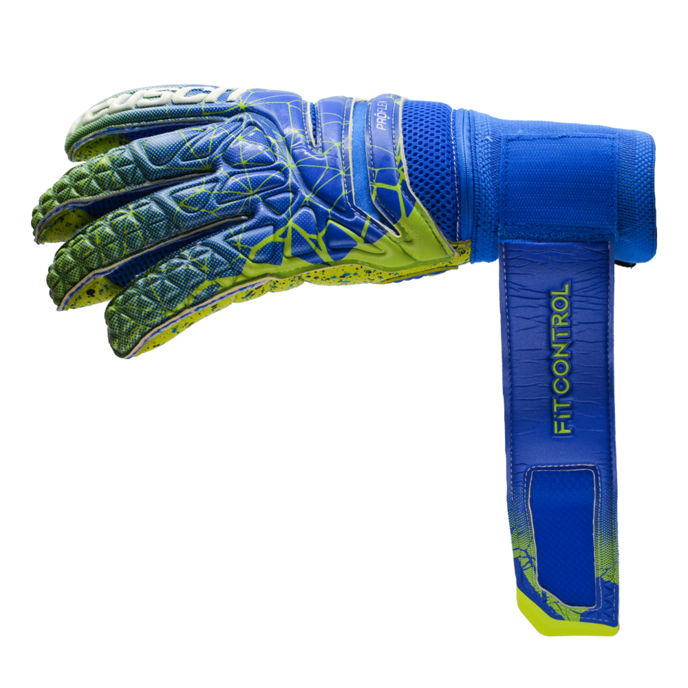 Goalkeeper gloves with custom wrist strap