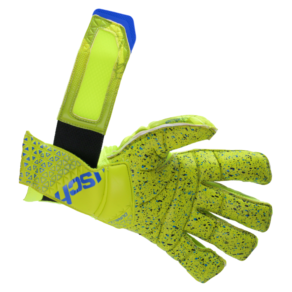Stretchy wrist strap soccer gloves
