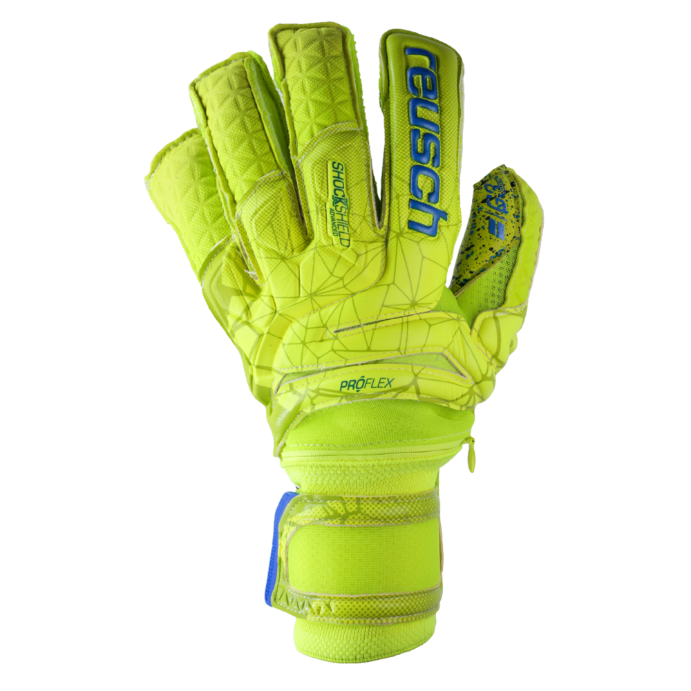 Yellow goalkeeper glove