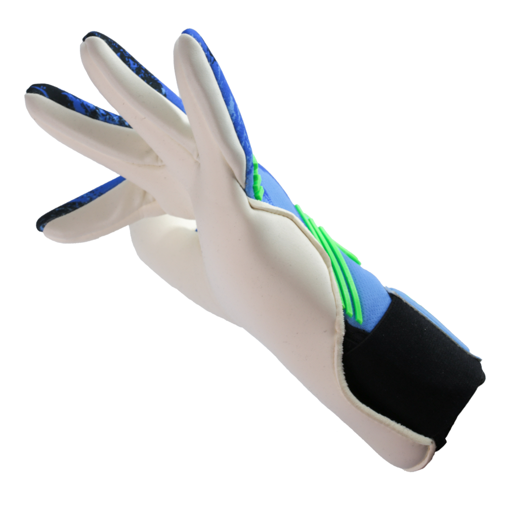 Iconic Flow Aqua Goalkeeper Glove Left Side Cut