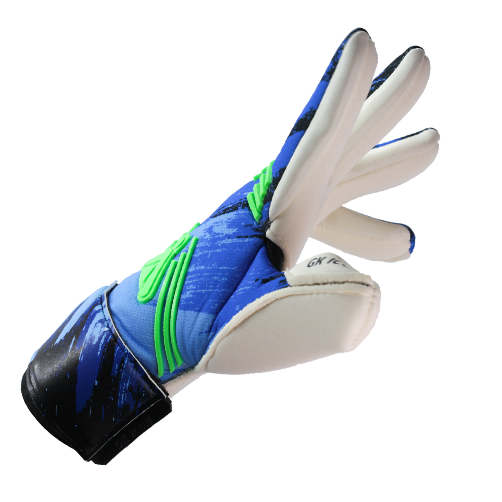 Iconic Flow Aqua Goalkeeper Glove Right Side Cut