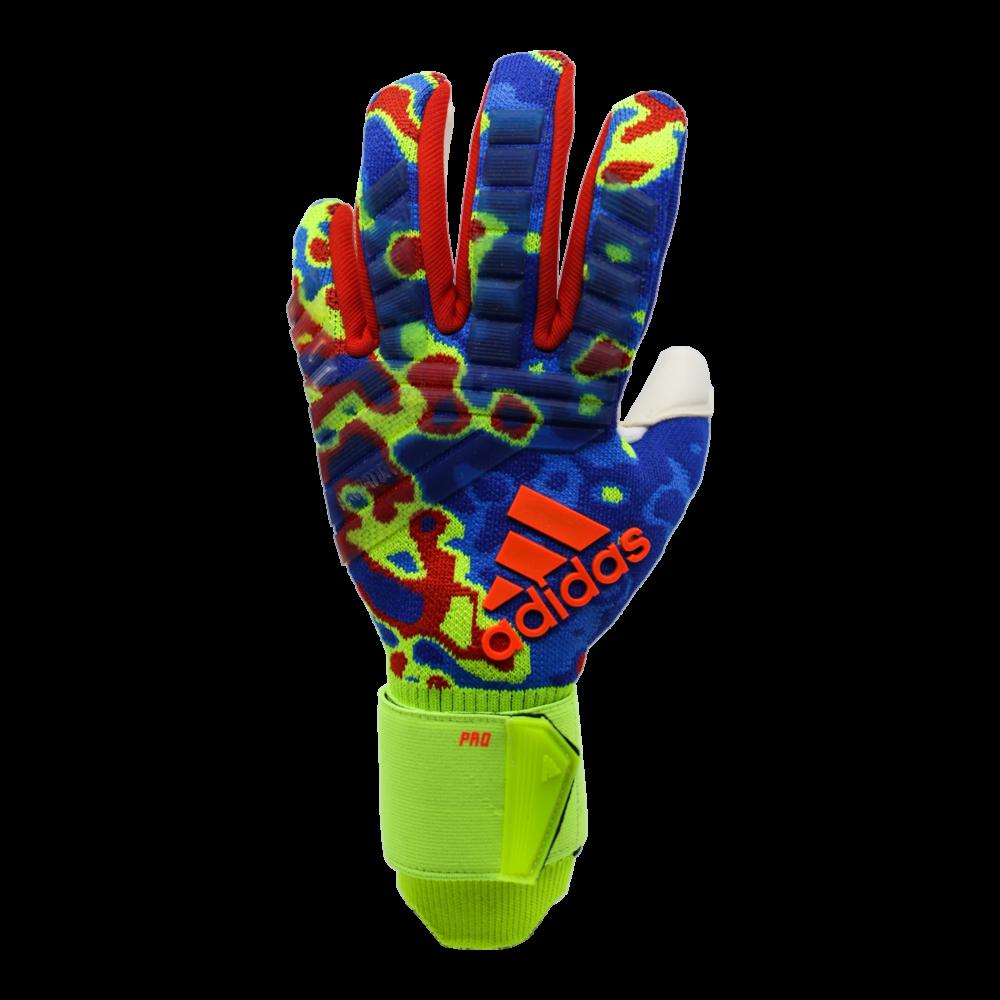 DN8606 Adidas Predator Pro Manuel Neuer Goalie Glove Backhand Heat Map