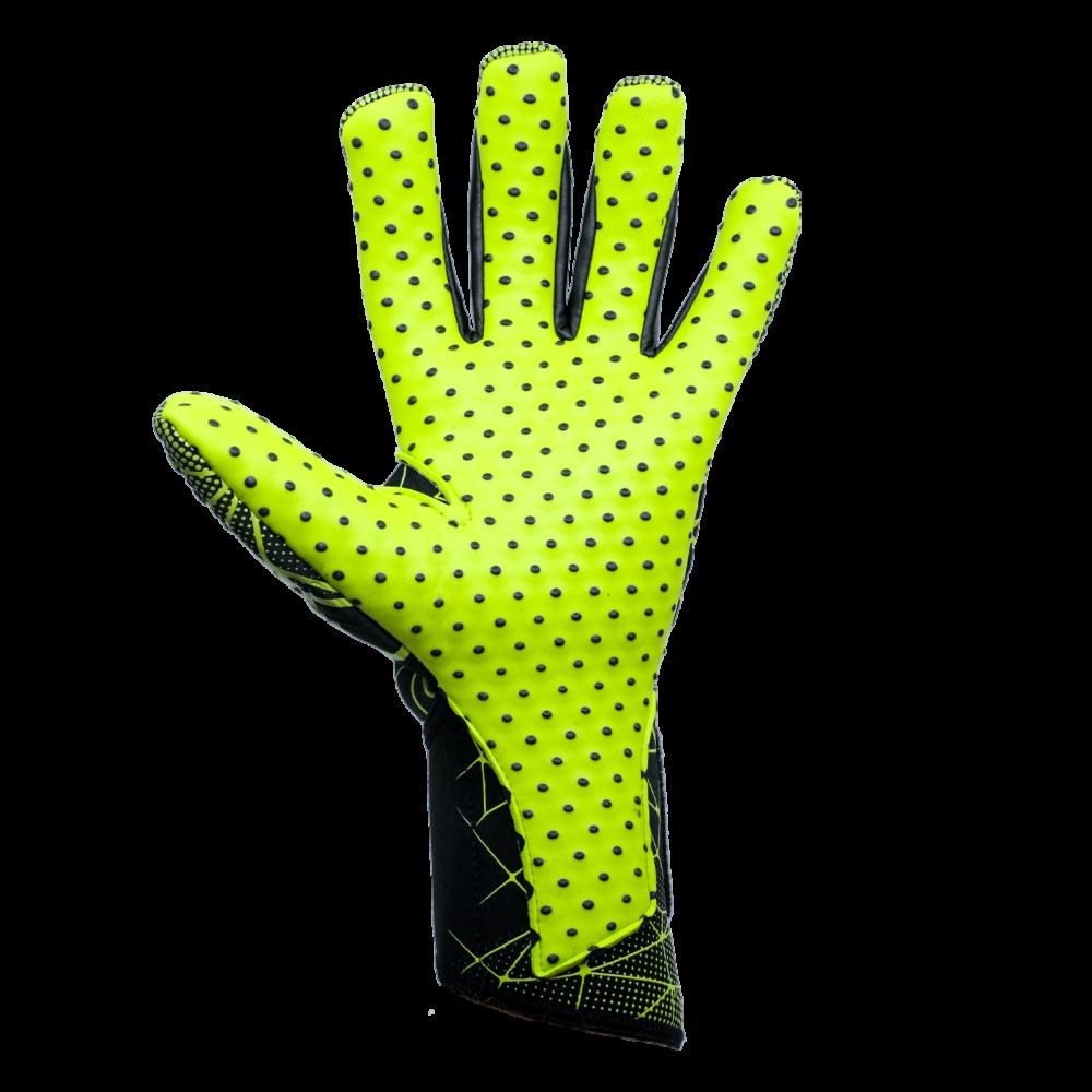 Reusch Pure Contact II G3 Speedbump Palm Lime Green Black Dots