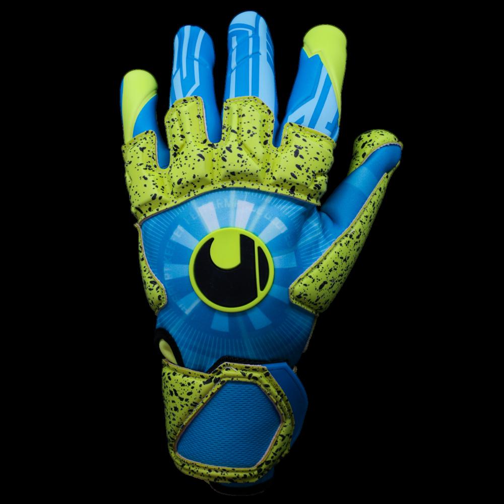 Uhlsport Radar Control Supergrip Reflex Backhand Turquoise Yellow