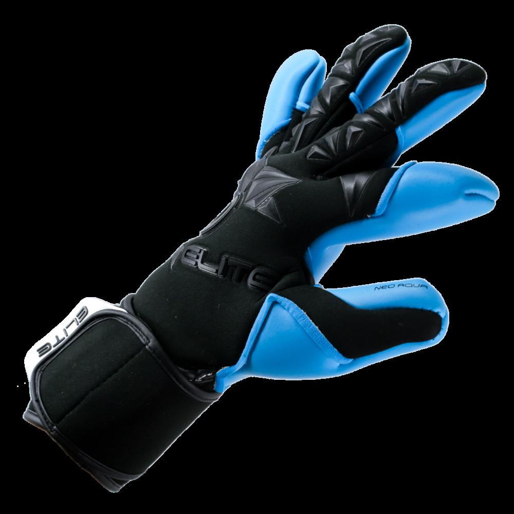 Elite Aqua Goalkeeper Glove right side fit