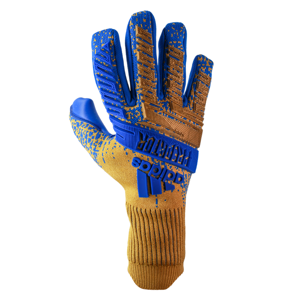 Blue and Gold Goalkeeper Gloves