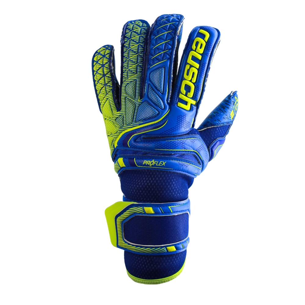 Blue goalkeeper gloves