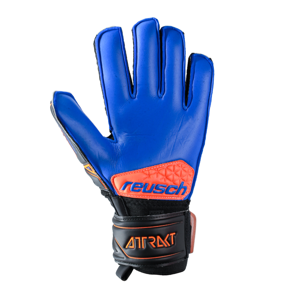 Blue youth goalie glove palm