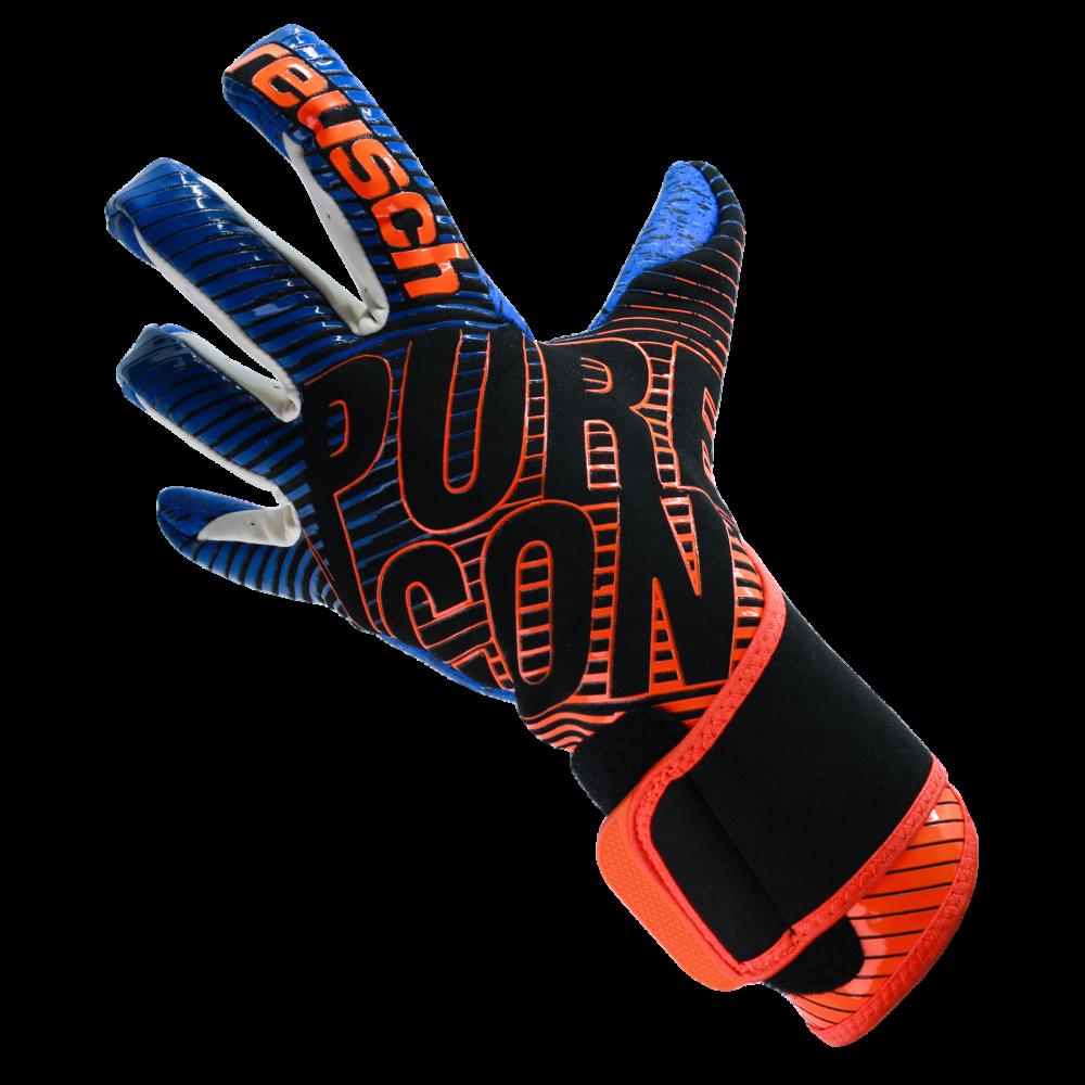 blue orange goalkeeper glove