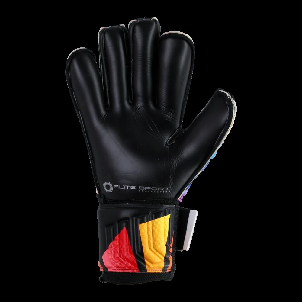 Black latex goalkeeper glove palm