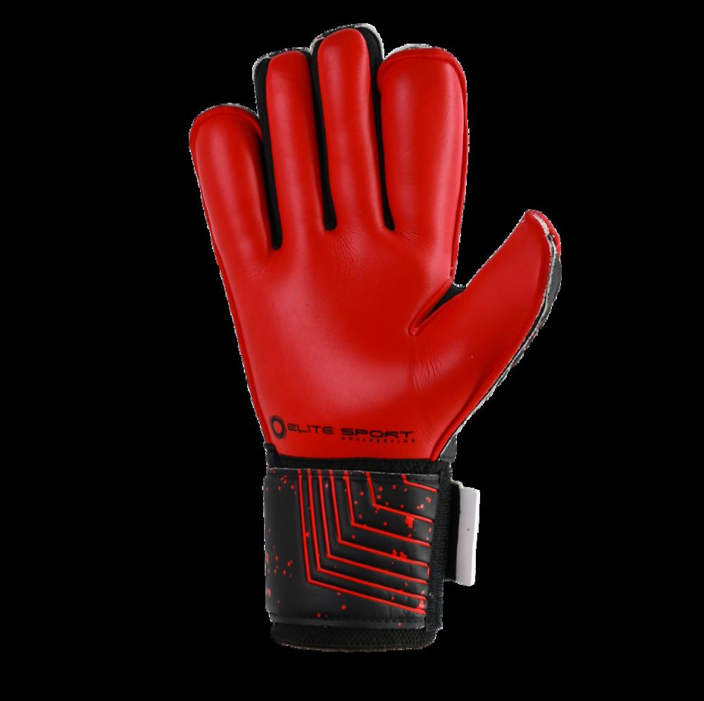 Red goalkeeper glove palm