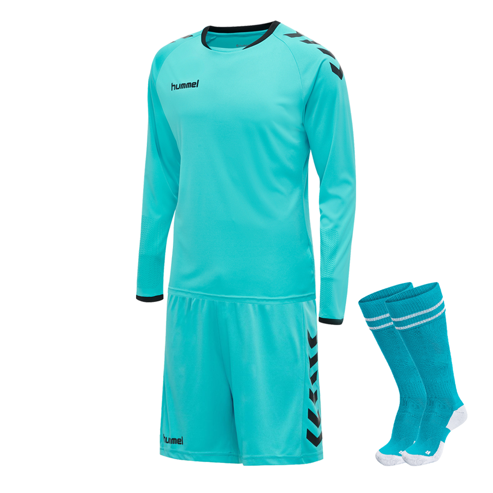 Hummel Core Goalkeeper Kit Scuba Blue