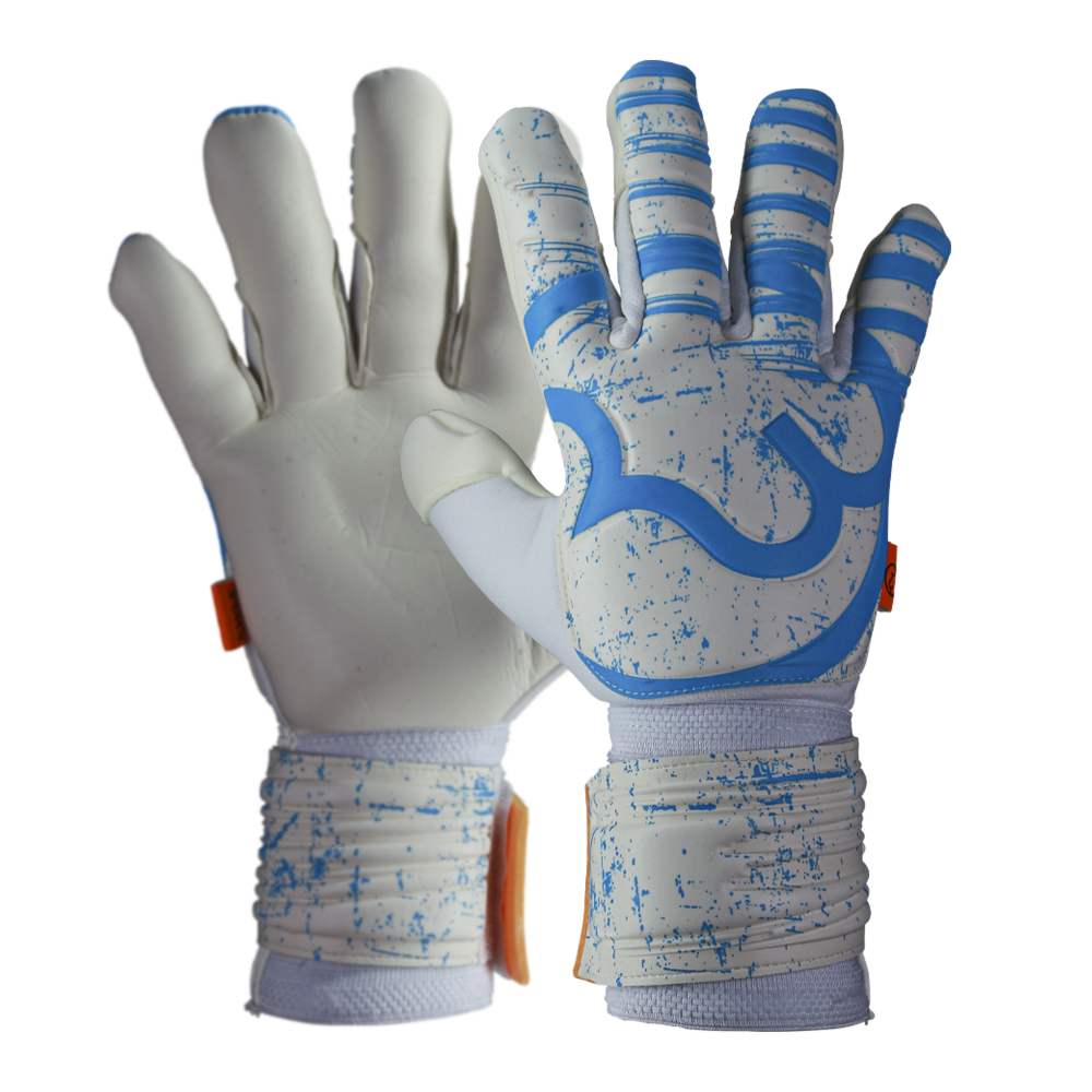 RWLK Pro Line Picasso White/Blue Goalie Gloves