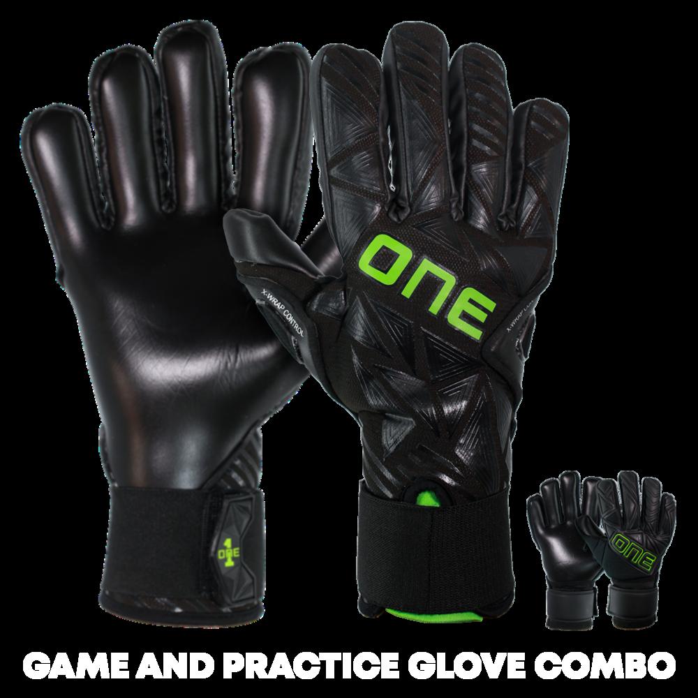 Night vision green goalkeeper glove