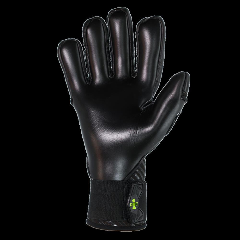 black soccer glove