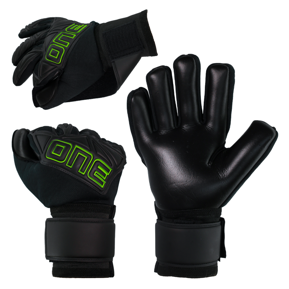 Goalkeeper game and practice glove package