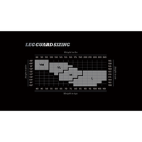 Storelli BodyShield Goalkeeper Leg Guard Sizing Chart