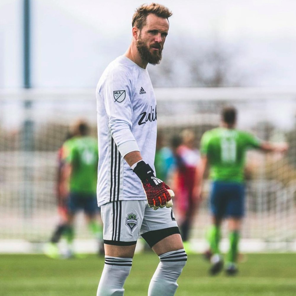 Frei wearing Storelli shorts in the MLS