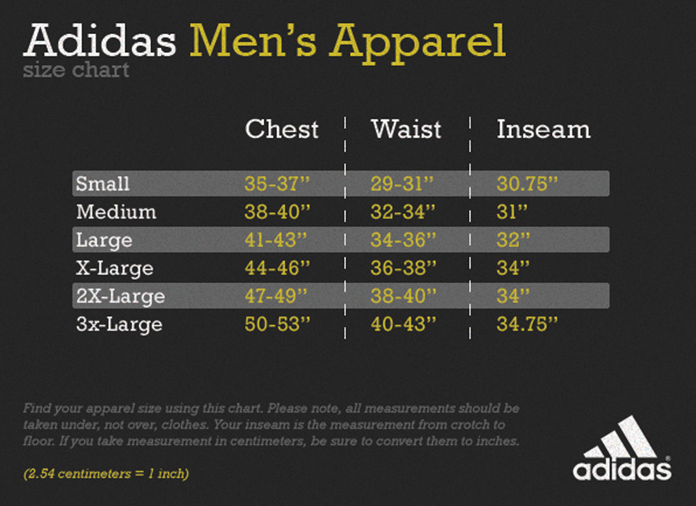 Adidas Apparel Sizing From The Experts At Keeperstop Com Keeperstop