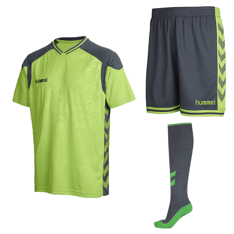Hummel Short Sleeve Matching Goalkeeper Shirt, Short, and Socks